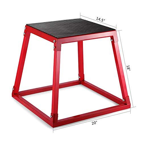 Morffa 18 Inch Plyometric Boxen Plyometric Plattform Jump Box Übung Plyometric Jump Boxen für Jump Training