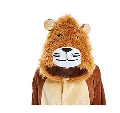 FMDD Tier Cosplay Kostüm Einhorn Cosplay Kostüm Onesie Pyjamas Erwachsene Halloween Cosplay Kostüm (Löwe, XL(Höhe 178-195 cm))