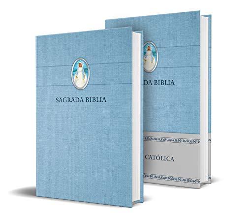 Sagrada Biblia Católica: Edición Compacta, Tapa Dura Azul Con Virgen Milagrosa / Holy Catholic Bible: Compact Edition, Hardcover, Blue with Miraculous