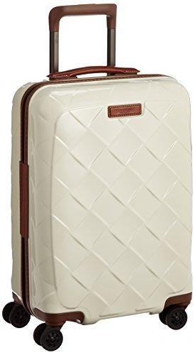 [ストラティック] スーツケース ジッパー レザー&モア 機内持ち込み グッドデザイン賞 保証付 35L 55 cm 2.61kg ミルク
