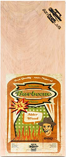 Axtschlag Räucherbretter, Erle – Alder, 2 XL Grillbretter, Holz 400 x 170 x 13 mm