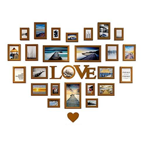 WYJW Sala de Estar Foto en Forma de corazón Decoración de la Pared Foto Pared Dormitorio Amor Creativo Marco de Fotos Combinación de Pared Amor