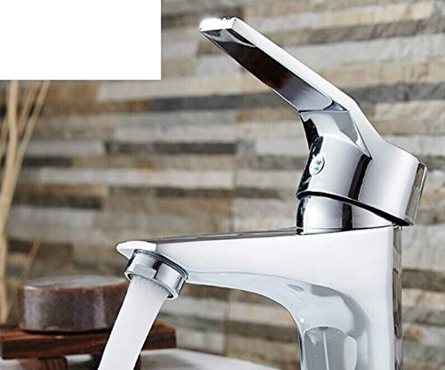 Zhcmy?Faucet Bathroom Cabinet Washbasin Faucet Single Handle Single Hole Hot And Cold Water Faucet Bathroom Counter Basin Faucet???Mixing Valve