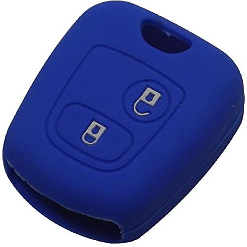 FBFG2 Botones de Goma de Silicona Cubierta de la Caja de la Llave remota del Coche para Peugeot 107, 206, 307, 207, 408, Carcasa Protectora para Llave