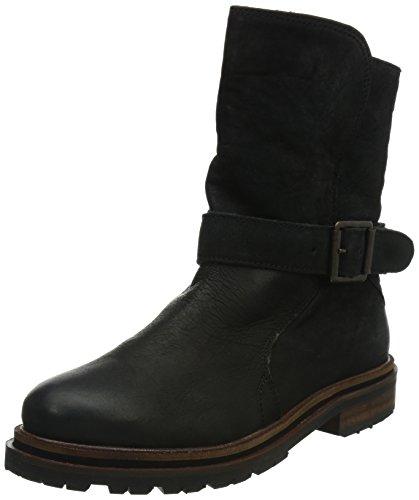 Hudson London Damen Tatham Biker Boots, Schwarz (Black), 38 EU