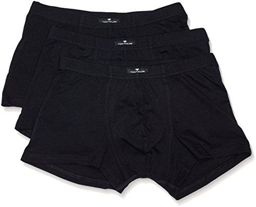 TOM TAILOR Herren Hip Pants, Baumwolle, Elastan, Single Jersey, schwarz, Uni, 3er Pack XL