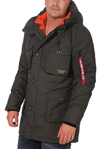 Alpha Industries Mountain All Weather Jacke Grau/Orange M