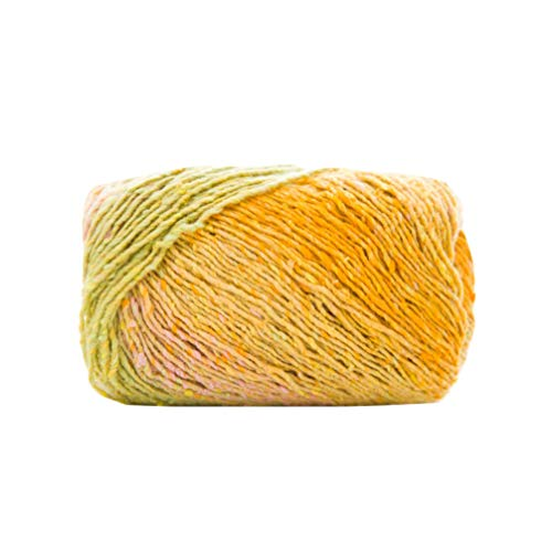 Artibetter Hilo de Manta de Algodn Color Degradado Hilo de Lana Suave Bufanda Sombrero Chal Lnea para Diy Tejido a Mano Crochet Mini Proyecto
