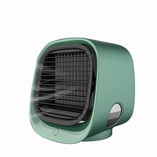 XinTengDa Purificador de enfriador de aire personal, Mini aire acondicionado portátil enfriador de aire, ventilador de refrigeración de escritorio de 3 velocidades para oficina en el hogar (verde)