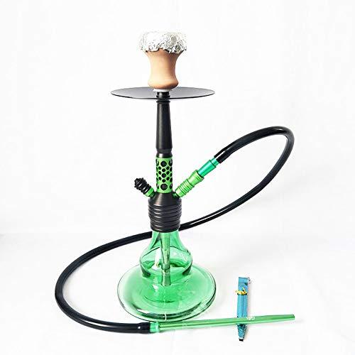 Arabico Shisha Set Big Glass 2 Pipe Orientalische Dekoration Shisha Narguile Chicha Shisha für Bar, Ktv, Kaffee-green