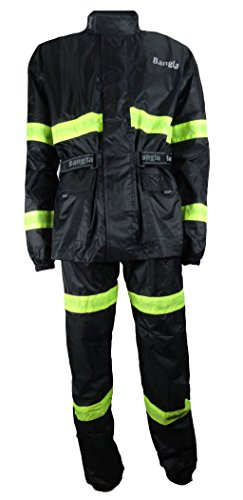 Ledershop-online Bangla Regenkombi 2tlg Jacke und Hose Motorradbekleidung schwarz XL