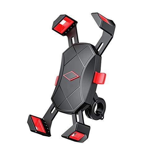 Yagosodee - Soporte de teléfono de bicicleta de moto, teléfono móvil 360 grados de rotación universal para teléfono móvil de 4,7-6,5 pulgadas