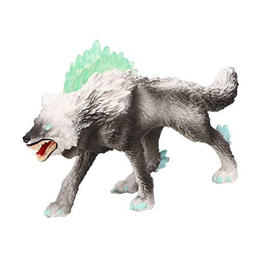 Juguete de dinosaurio, juguete de dinosaurio monstruo de bestia simulada, Lobo de nieve, modelo de animal de simulación, juguete educativo, decoración del hogar(M-1331)