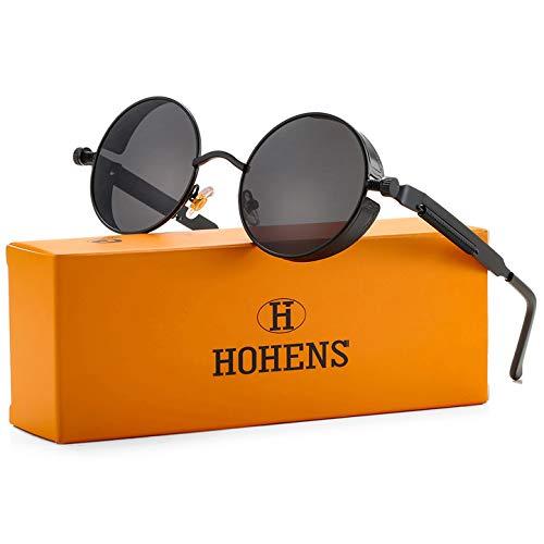 Gafas de sol redondas estilo retro estilo hippie estilo retro con marco de metal