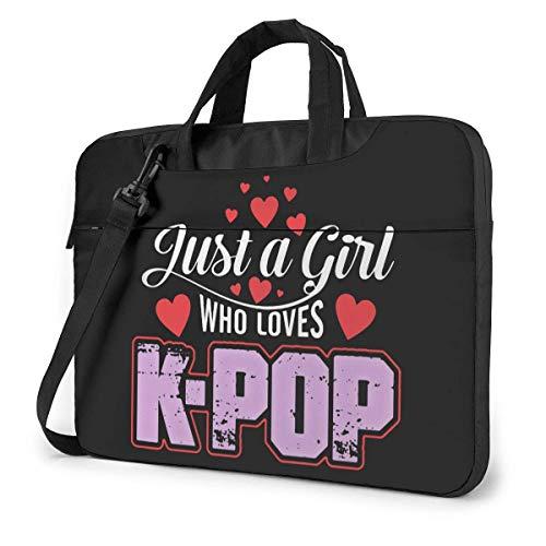 Who Loves K-Pop Laptop Bag Shockproof Briefcase Shoulder Bags Carrying Case Laptop