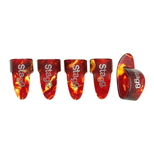 Stagg Finger & Thumb Pick Pack (Tortoise Shell)Medium