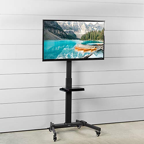 VIVO Black Mobile TV Cart for 32 to 55 inch LCD LED Plasma Flat Panel Screens, Rolling TV Stand with Wheels STAND-TV05L Photo #6