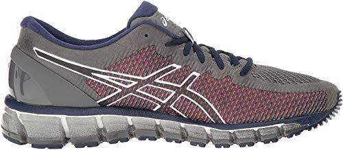 Asics Gel-Quantum - Zapatillas de correr para hombre (360 cm), Gris (carbón/blanco/plateado), 41.5 EU