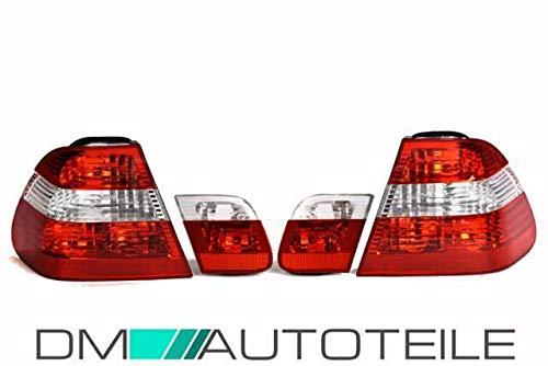 DM Autoteile Rückleuchten Heckleuchten Rot Weiß passt für E46 Limousine Facelift 01-05 OE