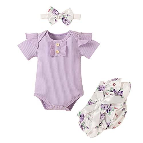 sunnymi 0 – 24 meses, insignias para bebé y niña, botones de girasoles, pantalones cortos, decoración para la cabeza, traje c 0-3 Meses
