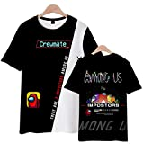 Among Us - Camiseta para hombre y mujer Impostor Tees Crewmate Streetwear Crop Tops 3D Unisex Manga Corta Verano Casual E XL