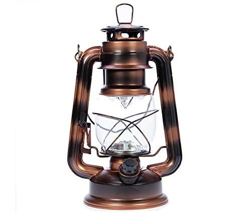 Garten Laterne mit LED Beleuchtung   Camping Laterne Garten-Laterne Retro Design Aussenlampe braun