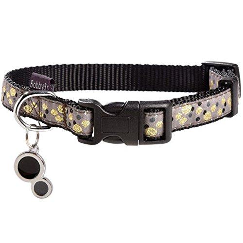Bobby Champagne hondenhalsband, maat M, zwart, Taille XS, zwart.