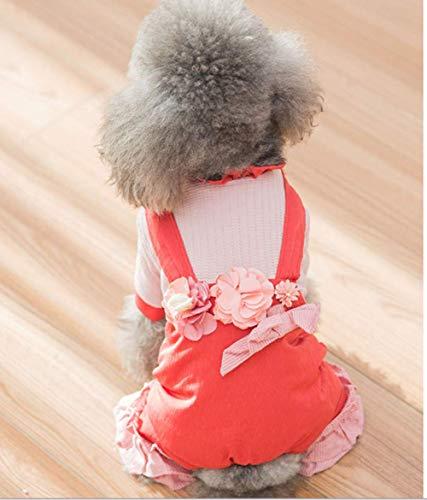 Xihaoer hond pyjama geruite huisdier trui voor winter doggie kleding - zacht warm en mode geschikt voor kleine middelgrote grote honden puppy, XXL, Rood