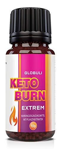 Saint Nutrition® Keto Burn Globuli, Extrem schnell - endlich für Frauen und Männer mit Koffein + Grüntee - Produziert in Deutschland