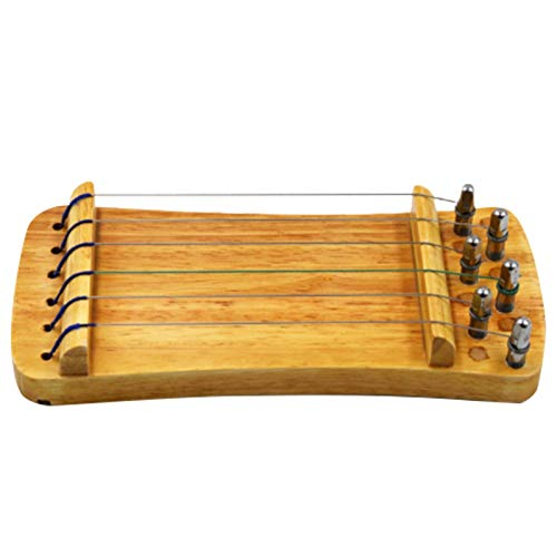 Dcolor Massiv Holz 6 Saiten Guzheng Zither Handtrainer Gu Zheng Finger Training
