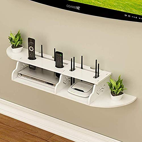 XGYUII Wall Mounted Media Console Drijvende TV Plank 2 Tier TV Stand Voor Xbox One/PS4/Kabel Box/DVD Spelers/Game Console