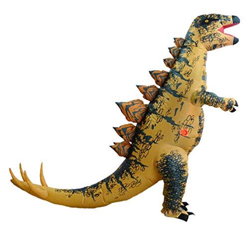 Amosfun costumi gonfiabili di dinosauro di Halloween cosplay adulto stegosauro vestito divertente travestimento in maschera