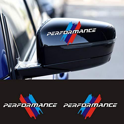 Karosserie DIY M Performance Aufkleber, für BMW M Power E46 E60 E61 E70 E71 E84 E90 F10 F20 F30 G01 G05 Auto-Styling (White,Tricolor 13X6.5cm)