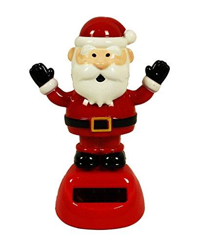 HAAC Solar Wackelfigur Wackelweihnachtsmann Nikolaus Weihnachtsmann 10,5 cm