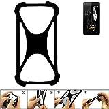 K-S-Trade® Handyhülle Für FANTEC Limbo Schutz Hülle Silikon Bumper Cover Case Silikoncase TPU Softcase Schutzhülle Smartphone Stoßschutz, Schwarz (1x),