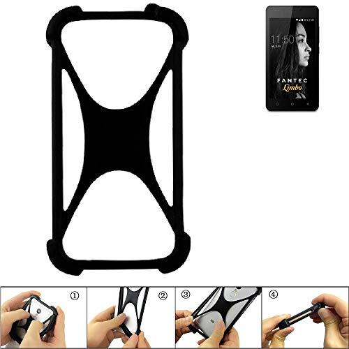 K-S-Trade Handyhülle für FANTEC Limbo Schutz Hülle Silikon Bumper Cover Case Silikoncase TPU Softcase Schutzhülle Smartphone Stoßschutz, schwarz (1x)