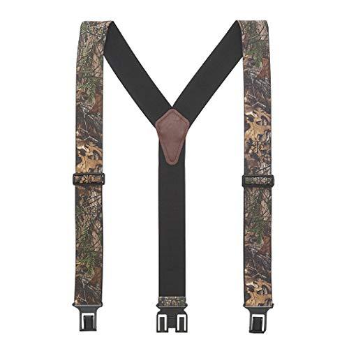 Perry Suspenders Bretelles élastiques pour homme Motif camouflage - Vert - taille unique