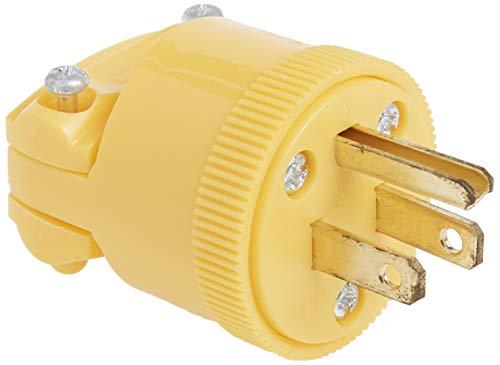 Legrand-Pass & Seymour 4867YCC10 15-Amp Commercial Grade Heavy Duty Plug Yellow