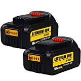 TEETOK <span class='highlight'>18V</span> Battery, 2 Pack <span class='highlight'>5.0Ah</span> <span class='highlight'>18V</span> Replacement Battery for Dewalt <span class='highlight'>XR</span> <span class='highlight'>Max</span> <span class='highlight'>18V</span> for DCB184 DCB180 DCB181 DCB182 <span class='highlight'>DCB200</span> DCB2 Battery