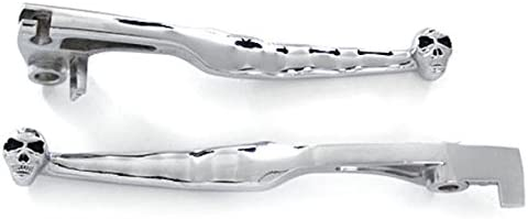 Baltimore Mall Krator Billet Aluminum Chrome Brake Hand Clutch Skull and Grips Popular products