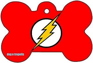 O2 Flash Comic Strip Logo Dog Pet Cat ID Tag Bone Shape Personalized Key Ring