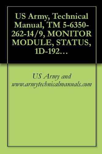 US Army, Technical Manual, TM 5-6350-262-14/9, MONITOR MODULE, STATUS, 1D-1921 ( ) FSS-9(V), (NSN 6350-00-228-2661), {NAVELEX 0967-466-9090; TO 31S9-4-32-1} (English Edition)