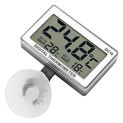 Jeanoko Digitales Aquarienthermometer DC16 Digitales Thermometer Genauigkeit von ± 0,1 ℃