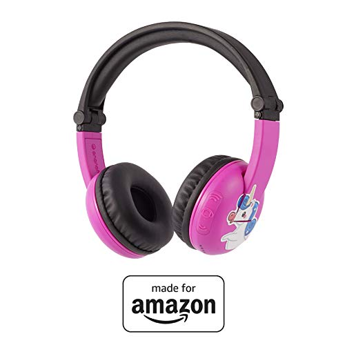 BuddyPhones PlayTime - Nuove cuffie Bluetooth Made for Amazon, per bambini da 3 a 7 anni, rosa