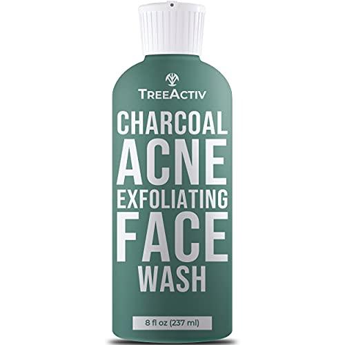 Tratamiento facial natural para eliminar el acné y limpiar la piel, jabón castillo de azufre, carbón vegetal, vitamina C, menta