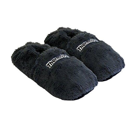 Thermo Sox Pantuflas calefactables para microondas y horno, pantuflas térmicas para calentar los pies, color Gris, talla 41/45 EU