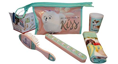 Character The Secret Life of Pets 'Girls' 5 Piece Travel Set PVC Kids Accessories