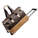 La maleta Trolley Equipaje Tronco Cuero Artificial Plegable Portátil Rueda de...