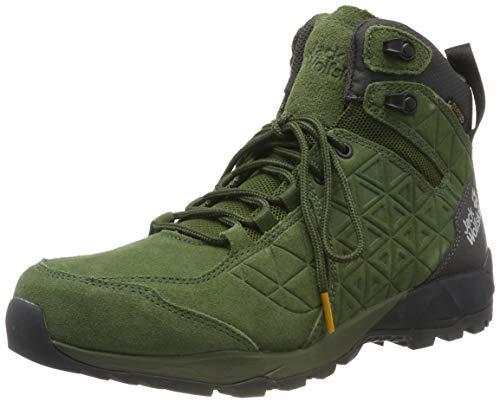 Jack Wolfskin Herren Cascade Hike LT Texapore MID M Trekking-& Wanderstiefel, Grün (Dark Moss/Phantom 5102), 44.5 EU