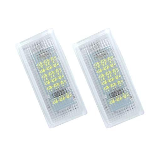 GOFORJUMP 2 delen/los 18LED 3528SMD kentekenplaatverlichting lamp voor B/MW 3 Serie E46 2D M3 1998-2003 helder wit